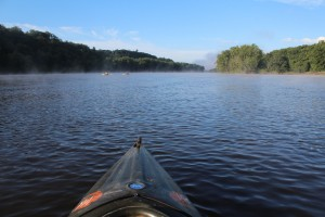 The view from my kayak on the St. Croix River