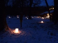 Luminaries at Wild River State Park