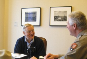 Chris Stein interviewing former Vice President Walter Mondale