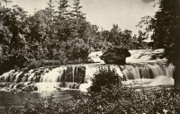 Junction Falls of the Kinnickinnic in 1865. (Photo from University of Wisconsin - River Falls archive, via Friends of the Kinni)
